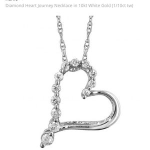 🎁 White Gold Diamond Necklace